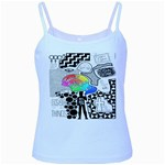 Panic ! At The Disco Baby Blue Spaghetti Tank Front