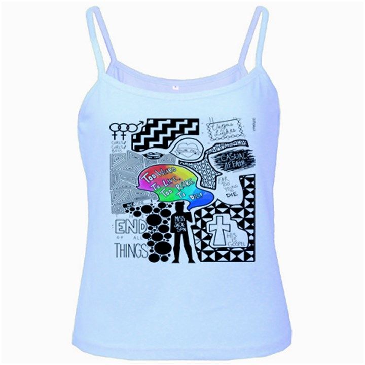 Panic ! At The Disco Baby Blue Spaghetti Tank