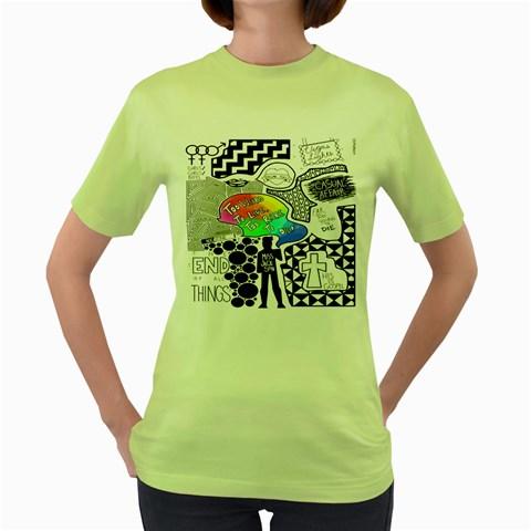 Panic ! At The Disco Women s Green T-Shirt