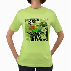 Panic ! At The Disco Women s Green T-Shirt