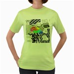 Panic ! At The Disco Women s Green T-Shirt Front