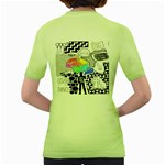 Panic ! At The Disco Women s Green T-Shirt Back