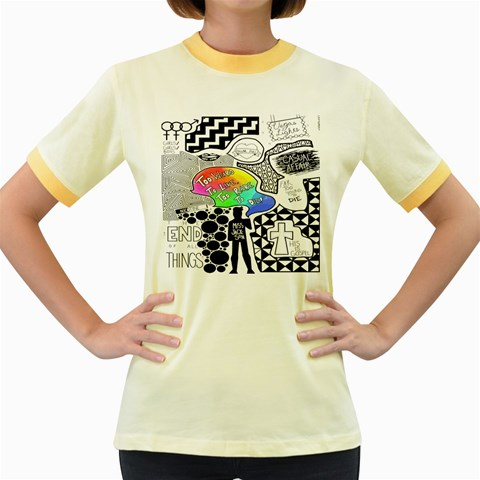 Panic ! At The Disco Women s Fitted Ringer T-Shirts