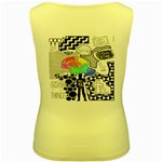 Panic ! At The Disco Women s Yellow Tank Top Back