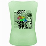 Panic ! At The Disco Women s Green Tank Top Back
