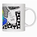 Panic ! At The Disco White Mugs Right
