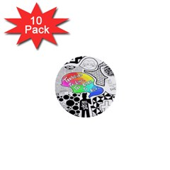 Panic ! At The Disco 1  Mini Buttons (10 pack)