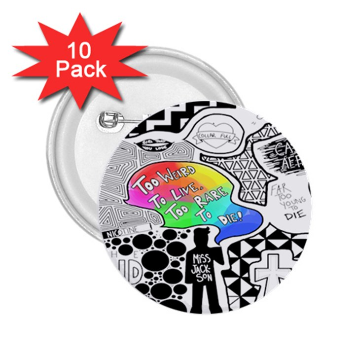 Panic ! At The Disco 2.25  Buttons (10 pack)