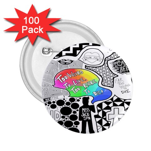 Panic ! At The Disco 2.25  Buttons (100 pack)