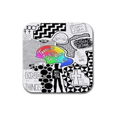 Panic ! At The Disco Rubber Square Coaster (4 Pack)