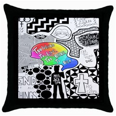 Panic ! At The Disco Throw Pillow Case (black)