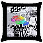 Panic ! At The Disco Throw Pillow Case (Black) Front