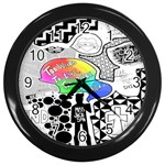 Panic ! At The Disco Wall Clocks (Black) Front