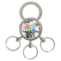 Panic ! At The Disco 3-Ring Key Chains