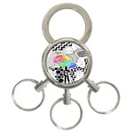 Panic ! At The Disco 3-Ring Key Chains Front