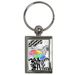 Panic ! At The Disco Key Chains (Rectangle)  Front