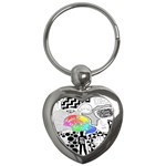 Panic ! At The Disco Key Chains (Heart)  Front