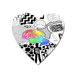 Panic ! At The Disco Heart Magnet Front