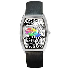 Panic ! At The Disco Barrel Style Metal Watch