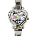 Panic ! At The Disco Heart Italian Charm Watch Front