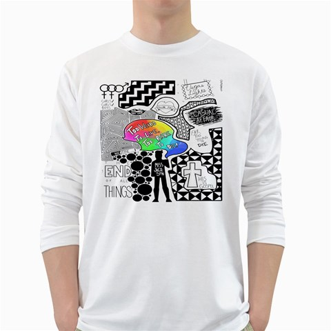 Panic ! At The Disco White Long Sleeve T-Shirts