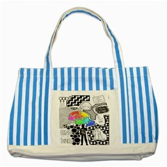 Panic ! At The Disco Striped Blue Tote Bag