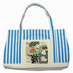 Panic ! At The Disco Striped Blue Tote Bag Front