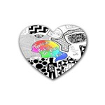 Panic ! At The Disco Heart Coaster (4 pack)  Front
