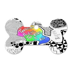 Panic ! At The Disco Dog Tag Bone (one Side)