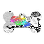 Panic ! At The Disco Dog Tag Bone (Two Sides) Back