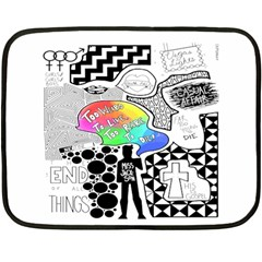 Panic ! At The Disco Double Sided Fleece Blanket (mini)