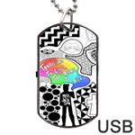 Panic ! At The Disco Dog Tag USB Flash (Two Sides)  Back