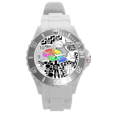 Panic ! At The Disco Round Plastic Sport Watch (L)