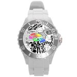 Panic ! At The Disco Round Plastic Sport Watch (L) Front