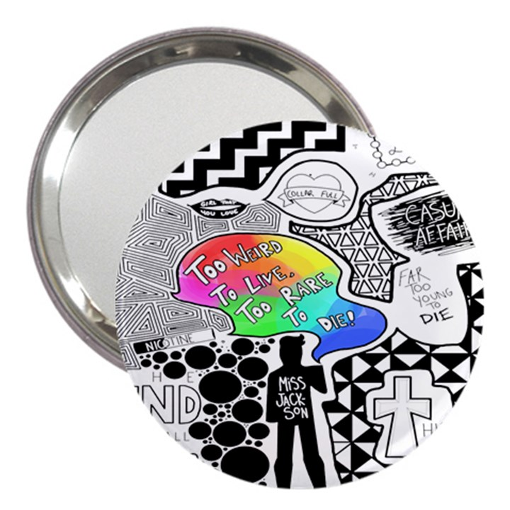 Panic ! At The Disco 3  Handbag Mirrors