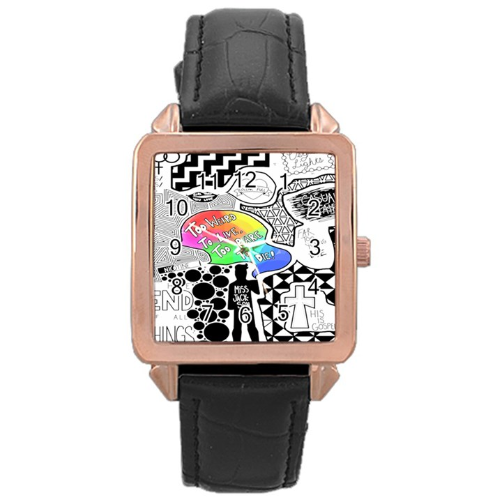 Panic ! At The Disco Rose Gold Leather Watch