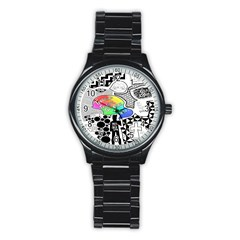 Panic ! At The Disco Stainless Steel Round Watch