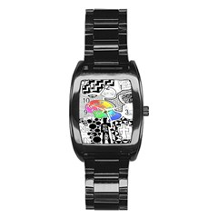 Panic ! At The Disco Stainless Steel Barrel Watch