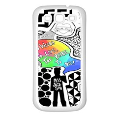 Panic ! At The Disco Samsung Galaxy S3 Back Case (white)