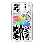 Panic ! At The Disco Samsung Galaxy Note 3 N9005 Case (White) Front