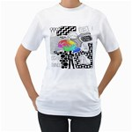 Panic ! At The Disco Women s T-Shirt (White)  Front