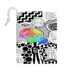 Panic ! At The Disco Drawstring Pouches (Large)  Back
