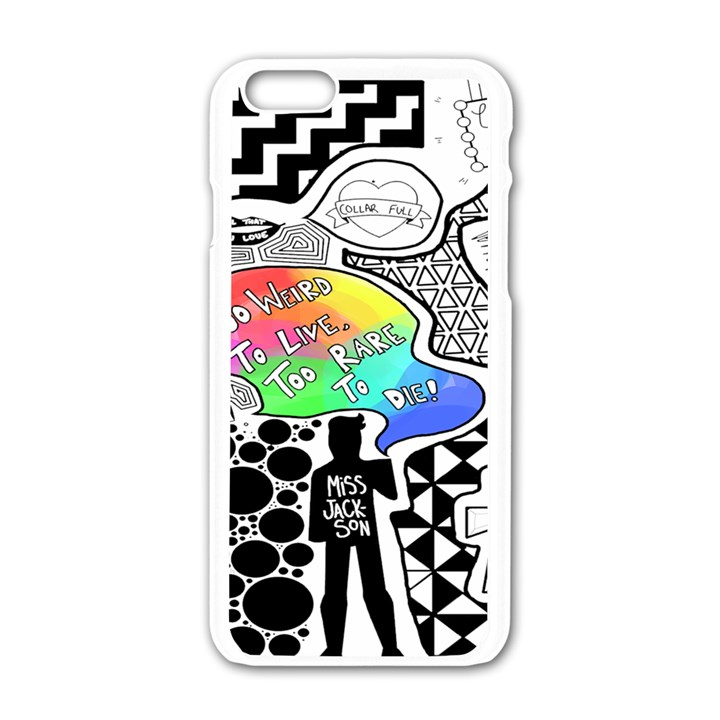 Panic ! At The Disco Apple iPhone 6/6S White Enamel Case