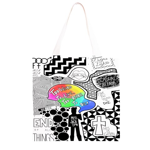 Panic ! At The Disco Grocery Light Tote Bag