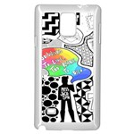 Panic ! At The Disco Samsung Galaxy Note 4 Case (White) Front
