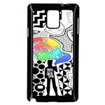 Panic ! At The Disco Samsung Galaxy Note 4 Case (Black) Front