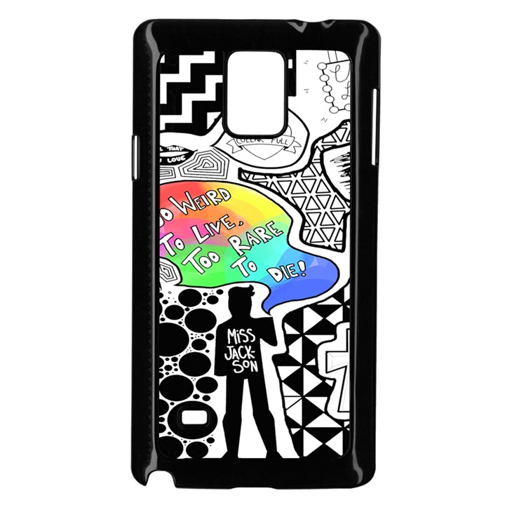 Panic ! At The Disco Samsung Galaxy Note 4 Case (Black)