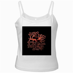 Panic At The Disco   Lying Is The Most Fun A Girl Have Without Taking Her Clothes White Spaghetti Tank