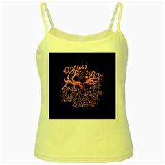 Panic At The Disco   Lying Is The Most Fun A Girl Have Without Taking Her Clothes Yellow Spaghetti Tank