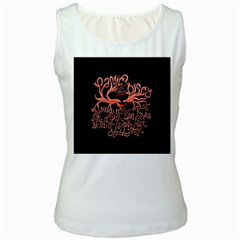 Panic At The Disco   Lying Is The Most Fun A Girl Have Without Taking Her Clothes Women s White Tank Top
